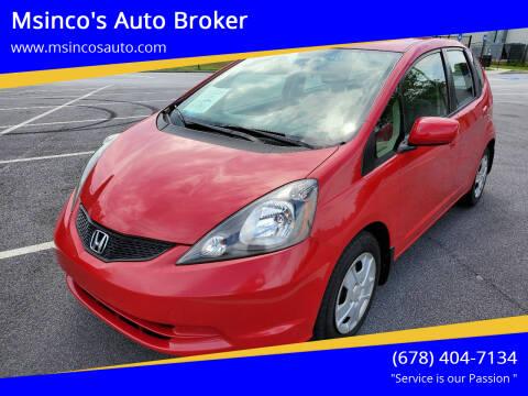 2013 Honda Fit for sale at Msinco's Auto Broker in Snellville GA