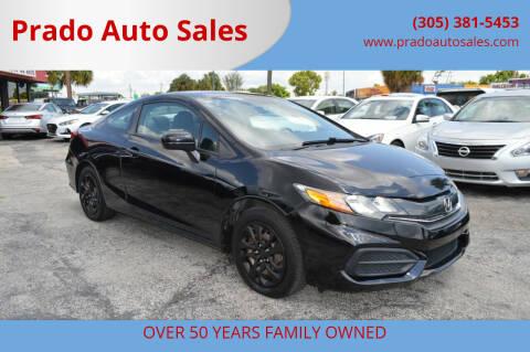 2014 Honda Civic for sale at Prado Auto Sales in Miami FL