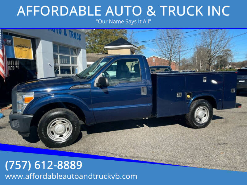 2012 Ford F-250 Super Duty for sale at AFFORDABLE AUTO & TRUCK INC in Virginia Beach VA