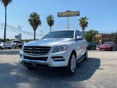 2014 Mercedes-Benz M-Class for sale at A MOTORS SALES AND FINANCE in San Antonio TX