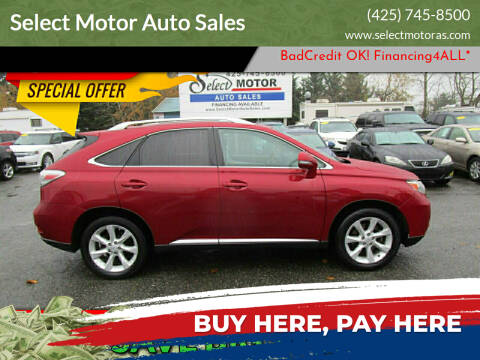 2010 Lexus RX 350 for sale at Select Motor Auto Sales in Lynnwood WA