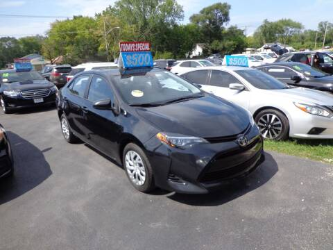 2017 Toyota Corolla for sale at North American Credit Inc. in Waukegan IL