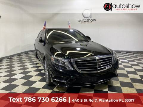 2017 Mercedes-Benz S-Class for sale at AUTOSHOW SALES & SERVICE in Plantation FL