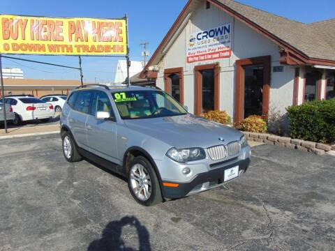 2007 BMW X3 for sale at Crown Used Cars in Oklahoma City OK