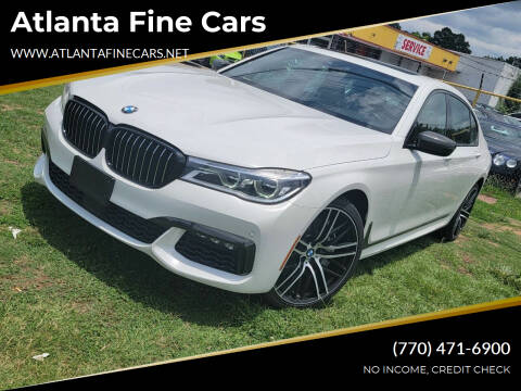 2018 BMW 7 Series for sale at Atlanta Fine Cars in Jonesboro GA