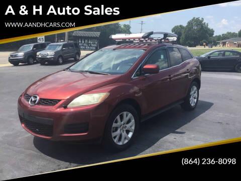 2007 Mazda CX-7 for sale at A & H Auto Sales in Greenville SC