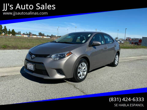 2016 Toyota Corolla for sale at JJ's Auto Sales in Salinas CA