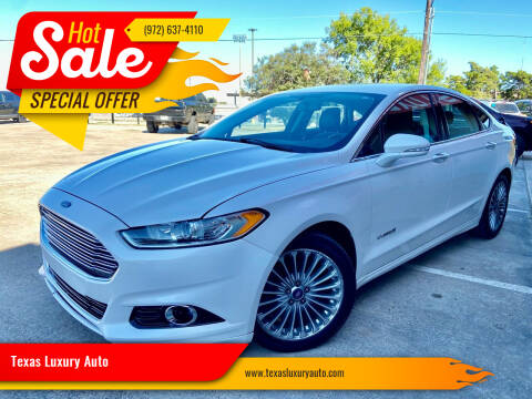 2013 Ford Fusion Hybrid for sale at Texas Luxury Auto in Cedar Hill TX