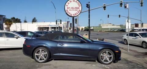 2014 Chevrolet Camaro for sale at San Mateo Auto Sales in San Mateo CA