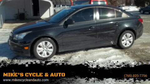 2013 Chevrolet Cruze for sale at MIKE'S CYCLE & AUTO in Connersville IN
