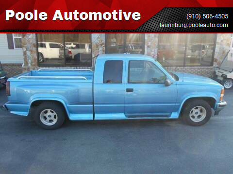 1995 Chevrolet C/K 1500 Series for sale at Poole Automotive in Laurinburg NC
