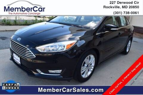 2015 Ford Focus for sale at MemberCar in Rockville MD