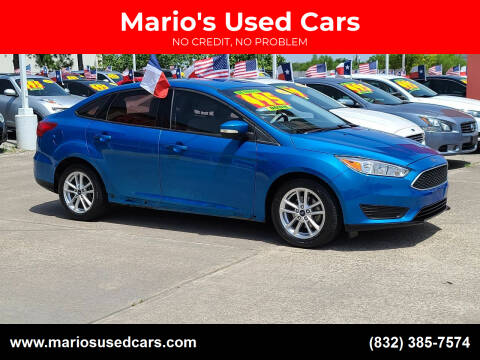 2016 Ford Focus for sale at Mario's Used Cars in Houston TX