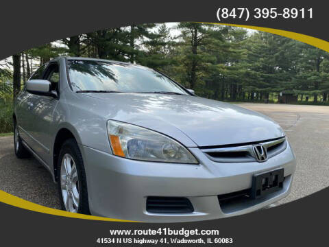 2007 Honda Accord for sale at Route 41 Budget Auto in Wadsworth IL