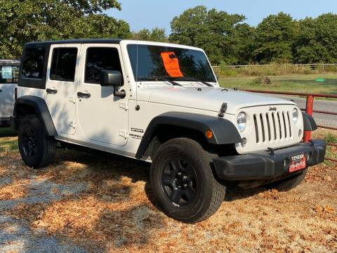 2017 Jeep Wrangler Unlimited for sale at TINKER MOTOR COMPANY in Indianola OK
