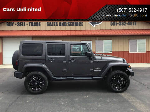 2016 Jeep Wrangler Unlimited for sale at Cars Unlimited in Marshall MN
