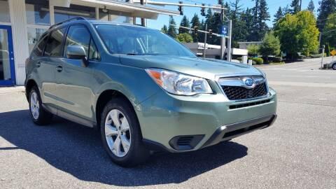 2015 Subaru Forester for sale at Seattle Auto Deals in Everett WA