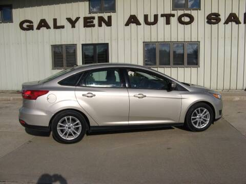 2017 Ford Focus for sale at Galyen Auto Sales in Atkinson NE