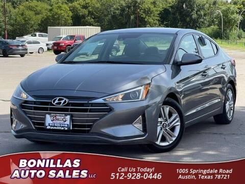 2019 Hyundai Elantra for sale at Bonillas Auto Sales in Austin TX