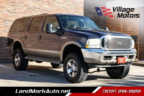2002 Ford Excursion for sale at Village Motors in Lewisville TX
