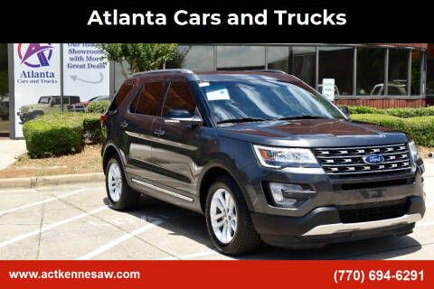 2016 Ford Explorer for sale at Atlanta Cars and Trucks in Kennesaw GA