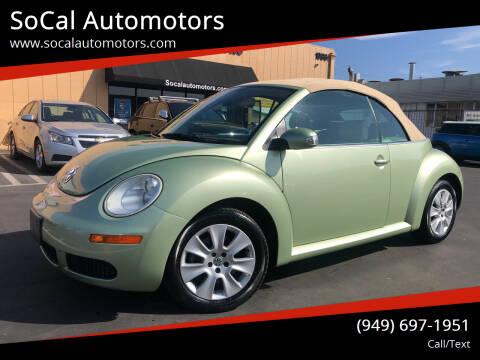2009 Volkswagen New Beetle Convertible for sale at SoCal Automotors in Costa Mesa CA