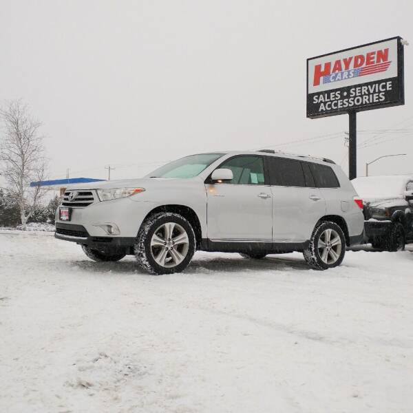 2012 Toyota Highlander for sale at Hayden Cars in Coeur D Alene ID