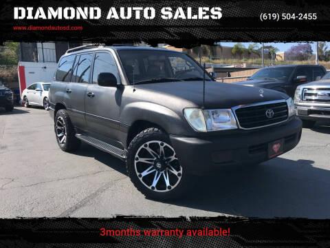 2002 Toyota Land Cruiser for sale at DIAMOND AUTO SALES in El Cajon CA