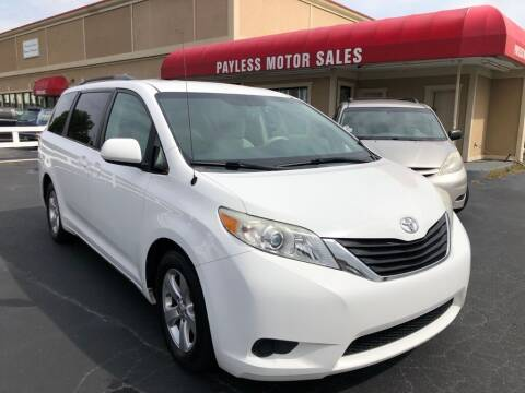 2013 Toyota Sienna for sale at Payless Motor Sales LLC in Burlington NC