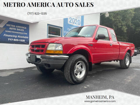 1999 Ford Ranger for sale at METRO AMERICA AUTO SALES of Manheim in Manheim PA