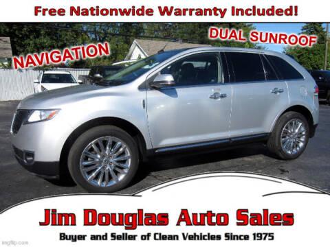 2013 Lincoln MKX for sale at Jim Douglas Auto Sales in Pontiac MI