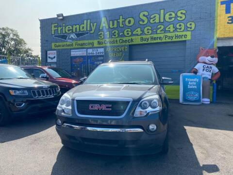 2011 GMC Acadia for sale at Friendly Auto Sales in Detroit MI