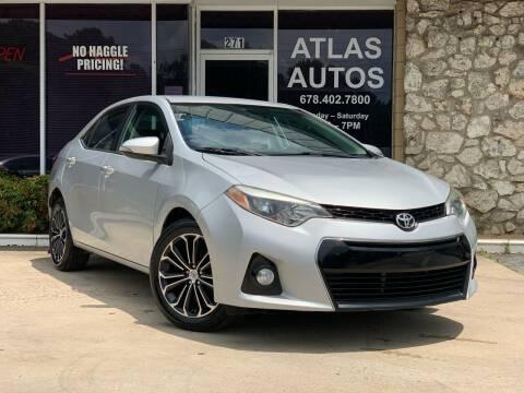 2014 Toyota Corolla for sale at ATLAS AUTOS in Marietta GA