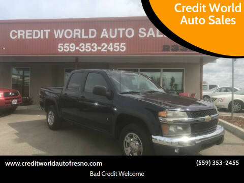 2008 Chevrolet Colorado for sale at Credit World Auto Sales in Fresno CA