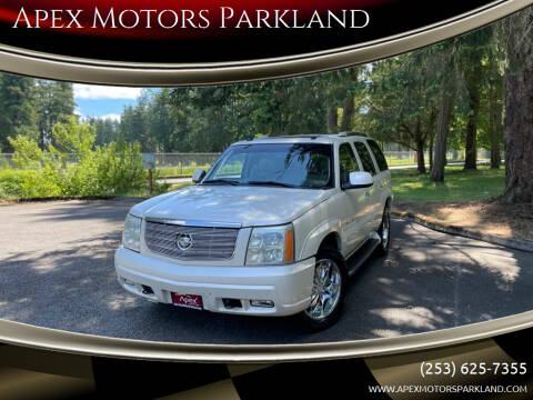 2003 Cadillac Escalade for sale at Apex Motors Parkland in Tacoma WA
