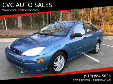2000 Ford Focus for sale at CVC AUTO SALES in Durham NC