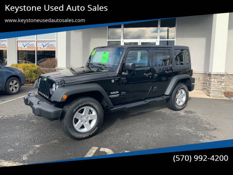 2016 Jeep Wrangler Unlimited for sale at Keystone Used Auto Sales in Brodheadsville PA