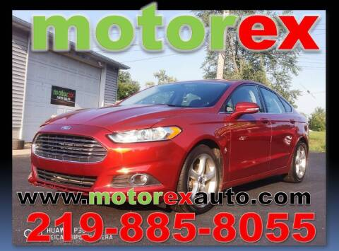 2014 Ford Fusion for sale at Motorex Auto Sales in Schererville IN