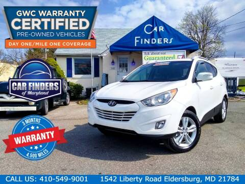 2013 Hyundai Tucson for sale at CAR FINDERS OF MARYLAND LLC - Certified Cars in Eldersburg MD