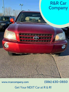 2002 Toyota Highlander for sale at R&R Car Company in Mount Clemens MI