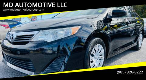 2013 Toyota Camry for sale at MD AUTOMOTIVE LLC in Slidell LA