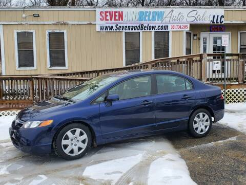 2008 Honda Civic for sale at Seven and Below Auto Sales, LLC in Rockville MD