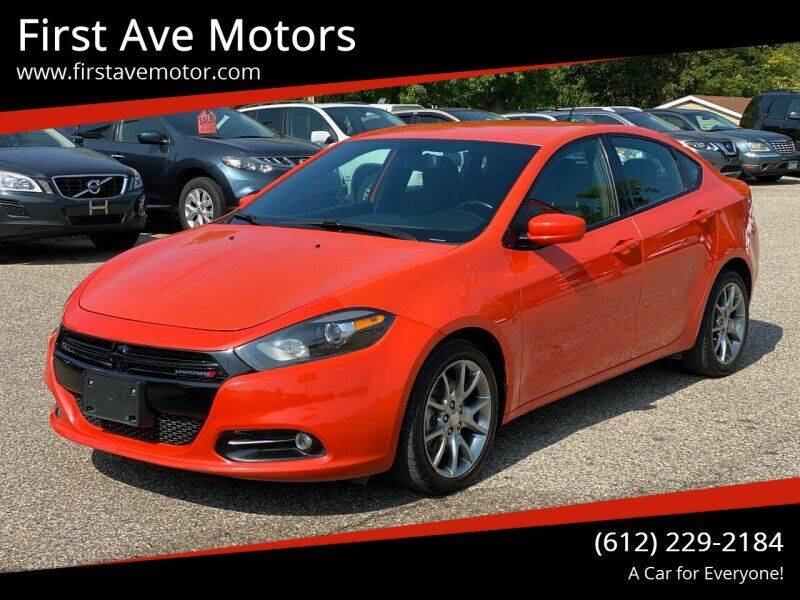 2015 Dodge Dart for sale at First Ave Motors in Shakopee MN