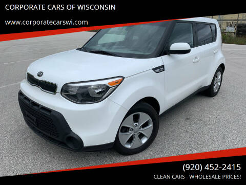 2015 Kia Soul for sale at CORPORATE CARS OF WISCONSIN in Sheboygan WI