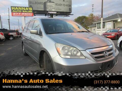 2007 Honda Odyssey for sale at Hanna's Auto Sales in Indianapolis IN