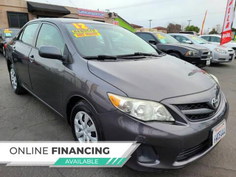 2012 Toyota Corolla for sale at Super Cars Sales Inc #1 - Super Auto Sales Inc #2 in Modesto CA