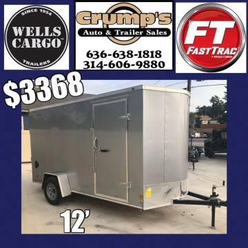 2021 Wells Cargo 12' Enclosed Trailer for sale at CRUMP'S AUTO & TRAILER SALES in Crystal City MO