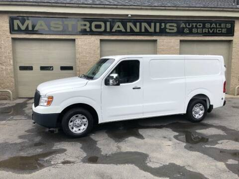 2015 Nissan NV Cargo for sale at Mastroianni Auto Sales in Palmer MA