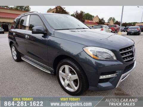 2014 Mercedes-Benz M-Class for sale at Auto Q Car and Truck Sales in Mauldin SC