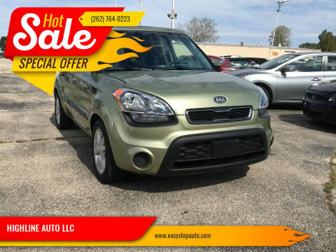 2012 Kia Soul for sale at HIGHLINE AUTO LLC in Kenosha WI